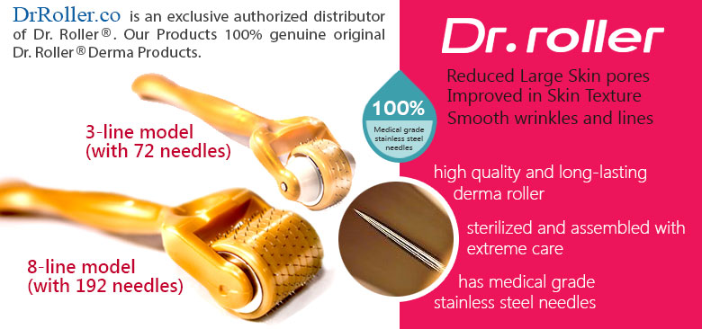 Dr. roller® is a premium quality derma roller which has gained a reputation for being one of the best on the market.
